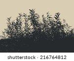 Silhouette Of A Bush. Vector...