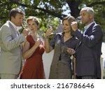 people drinking wine. | Shutterstock . vector #216786646