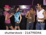 two men flirting with two women | Shutterstock . vector #216798346