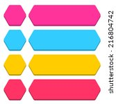 blank hexagon and rounded... | Shutterstock .eps vector #216804742