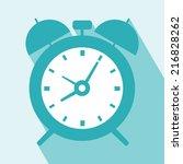 alarm clock icon. alarm clock... | Shutterstock .eps vector #216828262