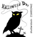 owl halloween | Shutterstock .eps vector #216832462