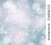 festive winter background.... | Shutterstock . vector #216836215