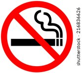 no smoking sign on white... | Shutterstock .eps vector #216836626