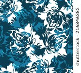 seamless floral pattern with... | Shutterstock .eps vector #216846382