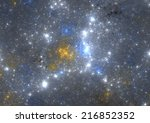 Night sky with stars - Stars background - stock photo