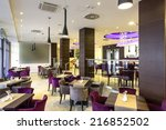 hotel lobby hall interior | Shutterstock . vector #216852502