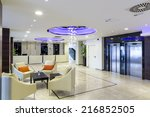 hotel lobby hall interior | Shutterstock . vector #216852505
