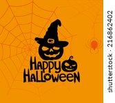 vector banner. happy halloween. | Shutterstock .eps vector #216862402