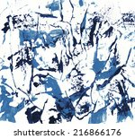 watercolor abstract hand... | Shutterstock . vector #216866176