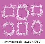set picture frames  hand drawn ... | Shutterstock . vector #216875752