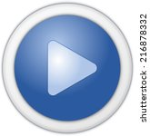 play button blue matt circle | Shutterstock . vector #216878332