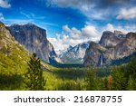 The View Of The Yosemite Valle...