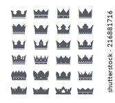 vector crowns | Shutterstock .eps vector #216881716