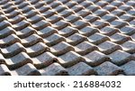 Closeup Of A Tiled Roof In...