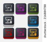 square button  computer   Shutterstock . vector #216884788