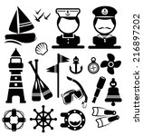 nautical  icons set vector | Shutterstock .eps vector #216897202