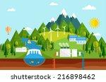 renewable energy like hydro ... | Shutterstock .eps vector #216898462