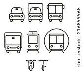 transport icons | Shutterstock .eps vector #216899968