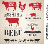 vector collection of beef ... | Shutterstock .eps vector #216902212