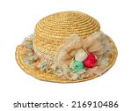 Hand Made Straw Hat Decorated...