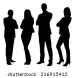 full length of silhouette... | Shutterstock .eps vector #216915412