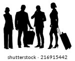 full length of silhouette... | Shutterstock .eps vector #216915442