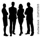full length of silhouette... | Shutterstock .eps vector #216915505