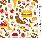 fast food seamless pattern | Shutterstock .eps vector #216929032