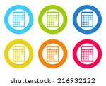 colorful rounded icons with a... | Shutterstock . vector #216932122