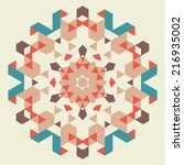 vector circular geometric... | Shutterstock .eps vector #216935002