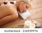 young beautiful women relaxing... | Shutterstock . vector #216939976