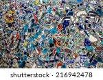 broken glass debris background  ... | Shutterstock . vector #216942478