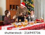 family of three generations ... | Shutterstock . vector #216945736