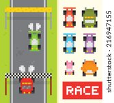 race game isolated vector... | Shutterstock .eps vector #216947155