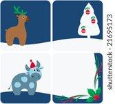 winter design set.   Shutterstock .eps vector #21695173
