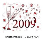 happy new year   greeting card   Shutterstock . vector #21695764