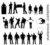 mega collection of twenty... | Shutterstock . vector #216960496
