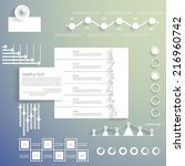 elements for your business... | Shutterstock .eps vector #216960742