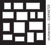 empty blank postage stamps... | Shutterstock .eps vector #216968725