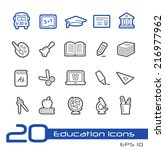 school   education icons   ... | Shutterstock .eps vector #216977962