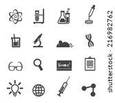 science and laboratory icons ...
