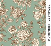 vintage vector seamless pattern ... | Shutterstock .eps vector #216984292