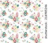 elegant seamless pattern with...   Shutterstock .eps vector #216985246