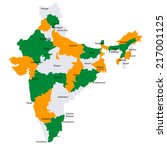 india map countries | Shutterstock .eps vector #217001125