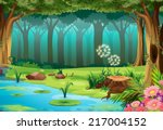 Illustration Of A Rainforest...