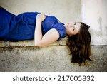 outdoor portrait of beautiful... | Shutterstock . vector #217005832