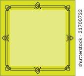 bold border  frame design...   Shutterstock .eps vector #21700732