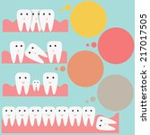 tooth   teeth vector icons set | Shutterstock .eps vector #217017505