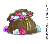 bag with gems  cartoon... | Shutterstock .eps vector #217024675